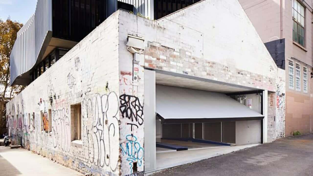 Industrial Design Custom Garage Door Design Architectural garage door design Counterbalanced Garage Door Surry Hills Sydney Residential Architecture