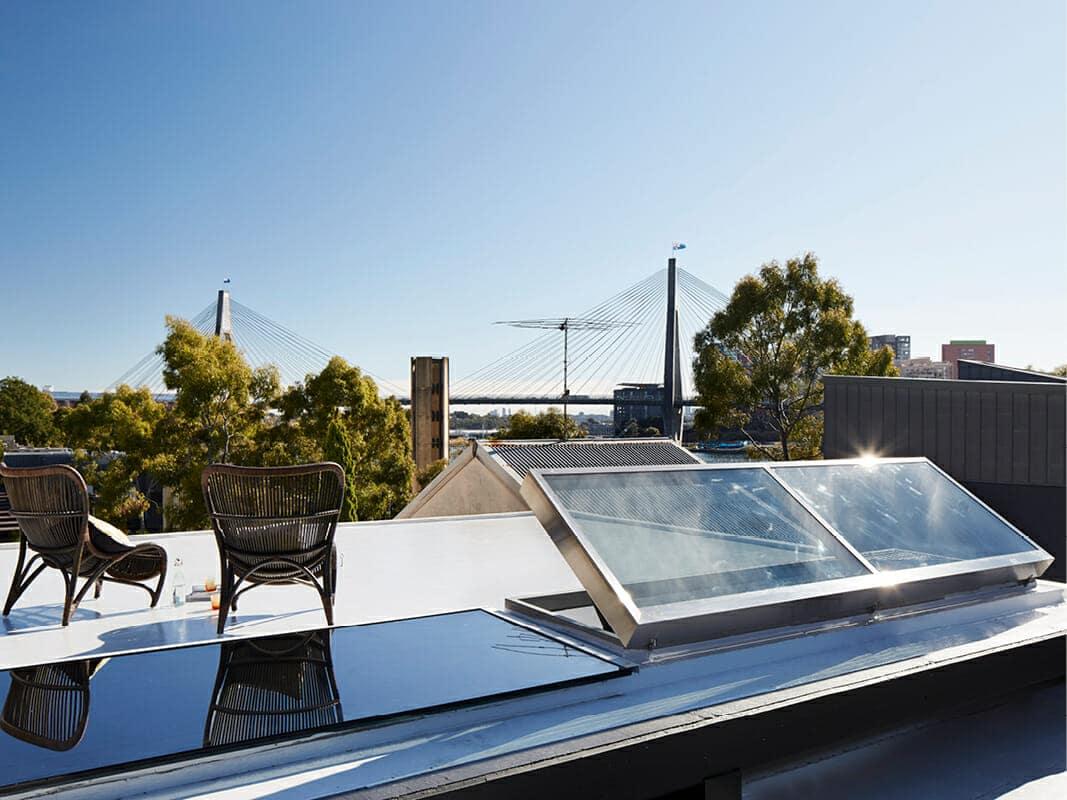Industrial Design Custom skylight Skylight Roof access Skylight Architectural skylight Glebe Sydney Architecture