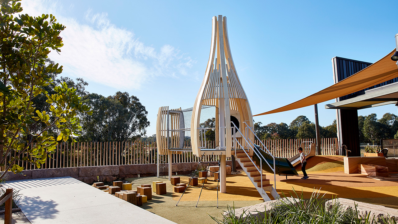 Architectural-Pod-Playrgound-Eastern-Creek-Quarter-Play-Space-Laminated-Acoya